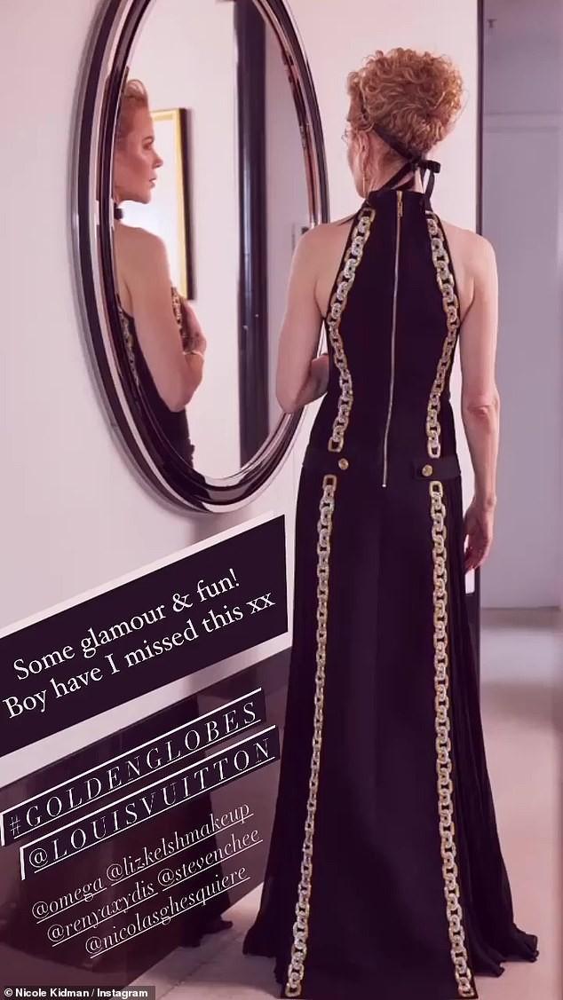 Nicole Kidman hiếm hoi khoe 2 con gái xinh đẹp tại Quả cầu Vàng ảnh 2