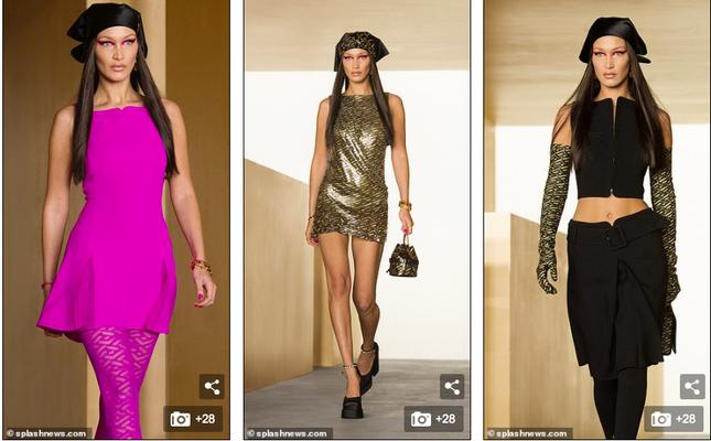 Siêu mẫu Nga Irina Shayk đẹp như nữ thần trên đường băng của Versace ảnh 9