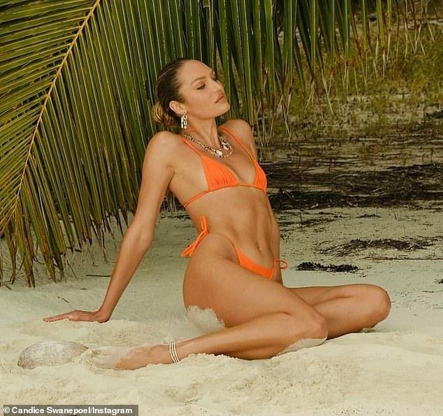 'Thiên thần nội y' Candice Swanepoel đường cong 'siêu thực' với bikini bé xíu ảnh 1