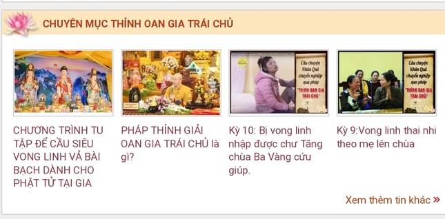 Hàng trăm bài viết 'gọi vong' và số tài khoản trên website chùa Ba Vàng biến mất ảnh 2