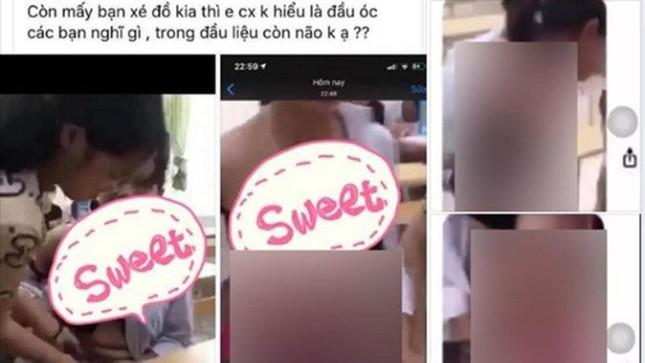 Nữ sinh Quảng Ninh bị bạn lột đồ, quay clip ngay tại lớp học ảnh 1