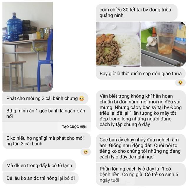 Vụ 'cắt xén' bữa ăn ở Quảng Ninh: Những tin nhắn từ khu cách ly ảnh 3