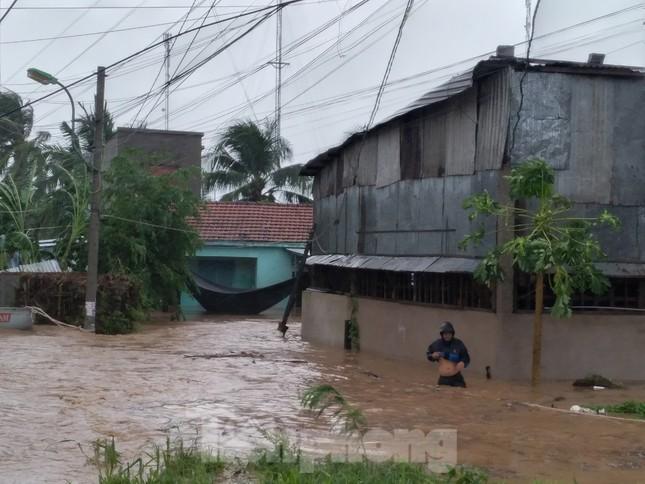 Bão tan nhưng dân phố biển Nha Trang vẫn bì bõm nơi nước ngập ảnh 1