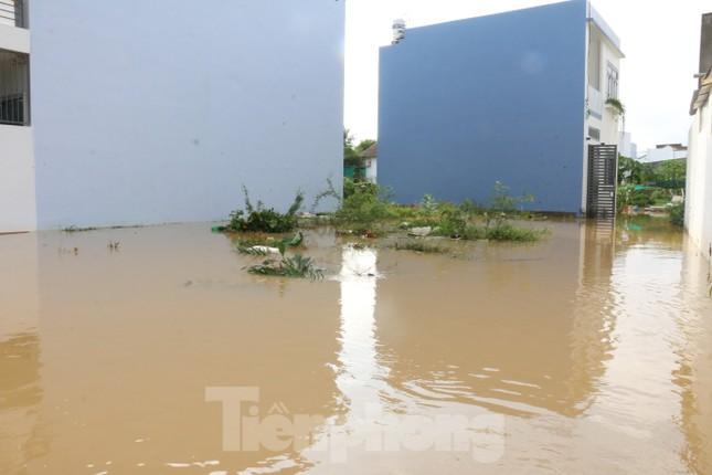 Bão tan nhưng dân phố biển Nha Trang vẫn bì bõm nơi nước ngập ảnh 4