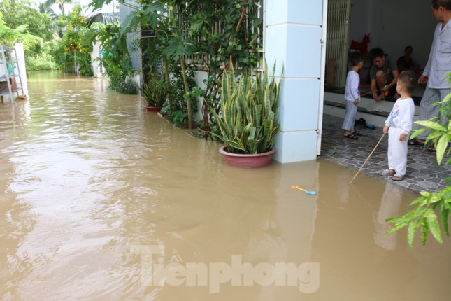 Bão tan nhưng dân phố biển Nha Trang vẫn bì bõm nơi nước ngập ảnh 2
