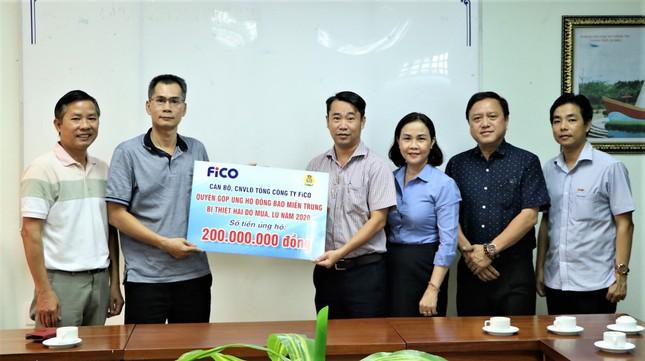 FiCO ủng hộ đồng bào miền Trung bị bão lũ 200 triệu đồng ảnh 1
