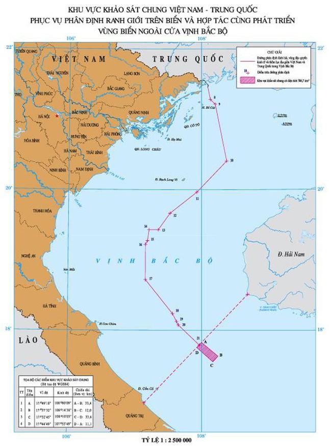 Khảo sát khu vực thỏa thuận vùng ngoài cửa vịnh Bắc bộ ảnh 1