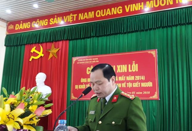 Công an Bắc Giang xin lỗi người bị bắt oan giờ đã khuất ảnh 1