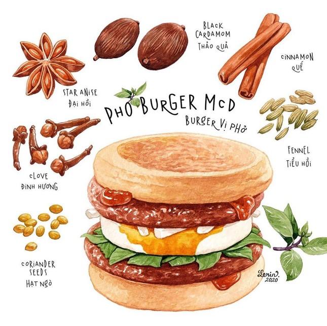 """Hết pizza vị phở lại đến burger vị phở """"chào sân"""" - nghe thì """"toang"""" mà ăn thì sao? ảnh 1"""