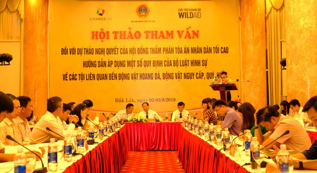 Hội thảo tham vấn đầu tiên của Tòa Tối Cao về động vật hoang dã ảnh 2