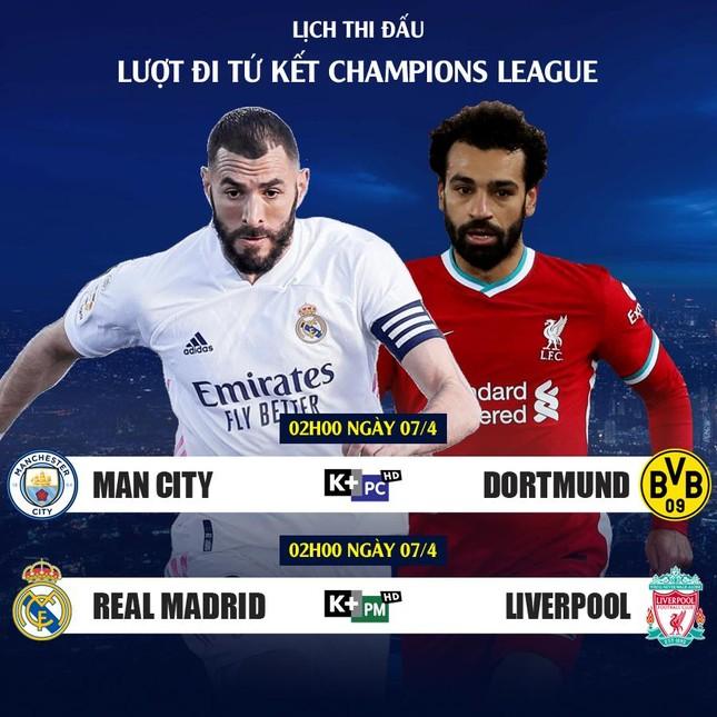 Lịch thi đấu Champions League 6/4: Rực lửa đại chiến Real vs Liverpool ảnh 2
