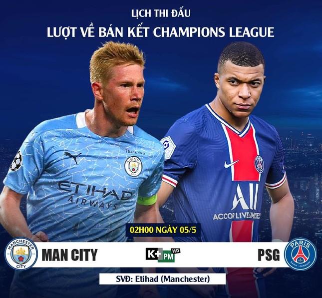 Lịch trực tiếp Champions League 4/5: Tấm vé lịch sử cho Man City? ảnh 2