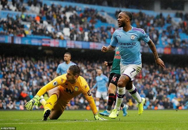 Thắng dễ Aston Villa, Man City gây sức ép lớn lên Liverpool ảnh 1
