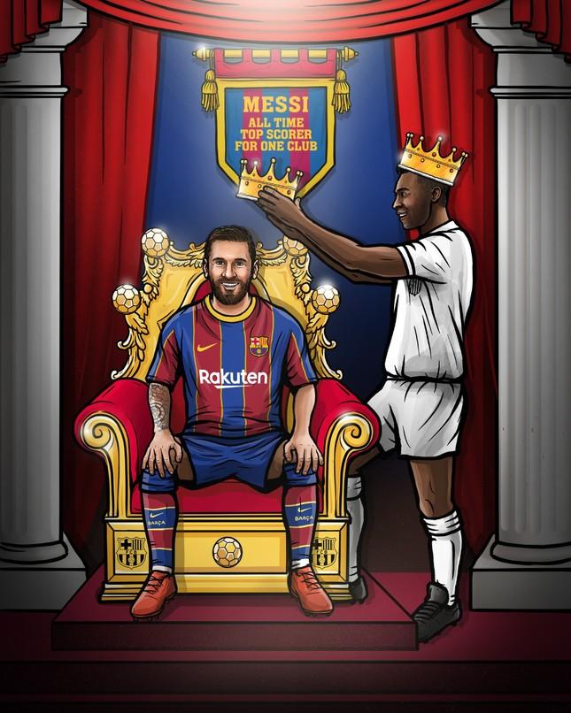 Messi san bằng kỷ lục của Pele, Barcelona 'cầm vàng lại để vàng rơi' ảnh 1