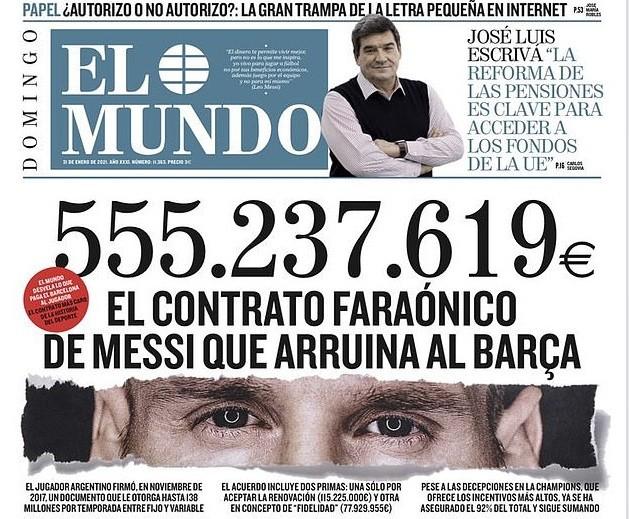 Choáng váng với hợp đồng hơn nửa tỷ euro của Lionel Messi ảnh 1