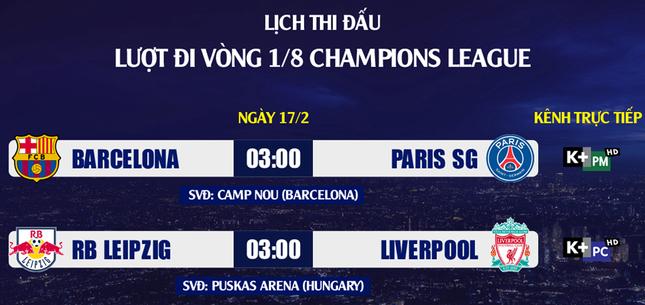 Lịch thi đấu Champions League: Duyên nợ Barca - PSG ảnh 2