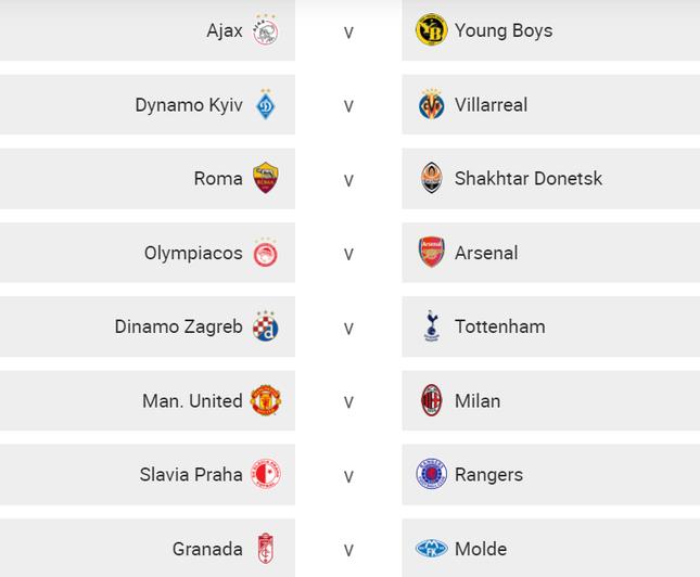 Bốc thăm vòng 1/8 Europa League: M.U đại chiến AC Milan ảnh 1