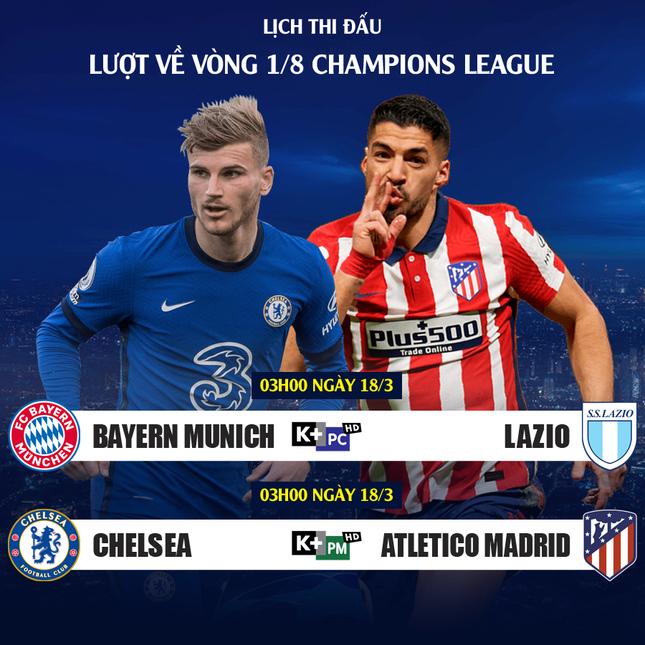 Lịch trực tiếp Champions League: Sóng dữ chờ Chelsea ảnh 2
