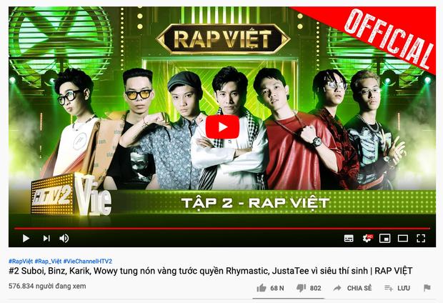 'Rap Việt' lập siêu kỷ lục lượt xem, đồng dao 'Bắc Kim Thang' gây nổi da gà ảnh 1