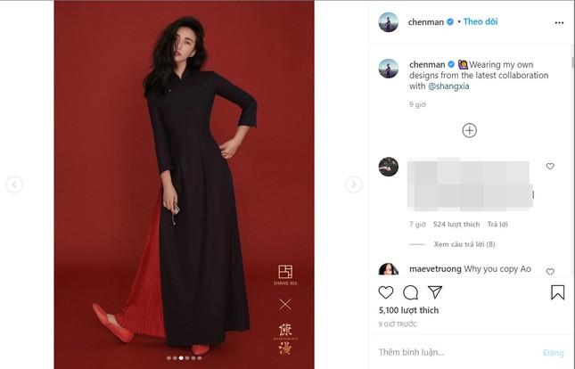 Tranh cãi thiết kế của nhiếp ảnh gia nổi tiếng Trung Quốc giống hệt áo dài Việt Nam ảnh 1