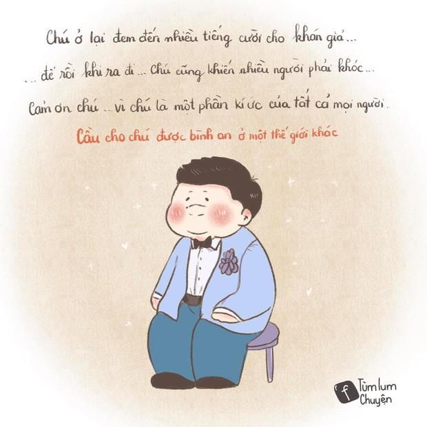 Bộ tranh vẽ từng vai diễn để đời của nghệ sĩ Chí Tài gây xúc động ảnh 23