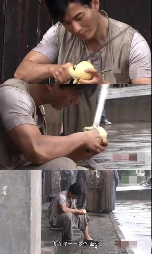 Huỳnh Hiểu Minh tự tay gọt hơn 2000 quả lê phục vụ cho 6 giây lên hình ảnh 3