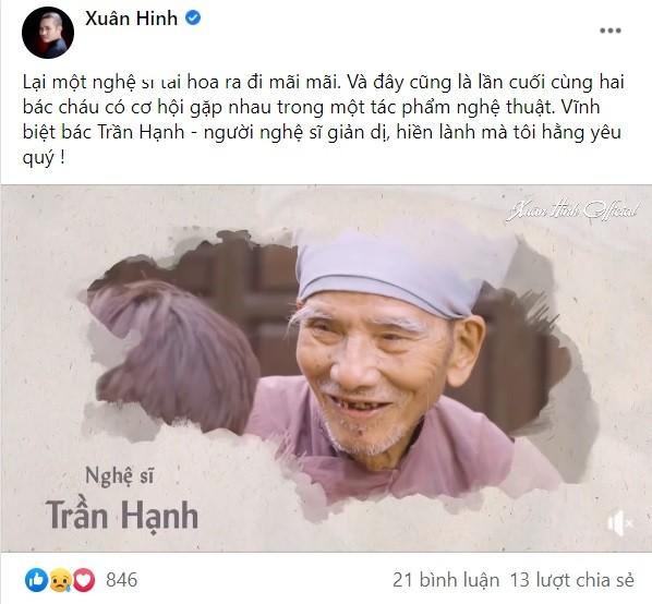 Nghệ sĩ Việt đau buồn nói lời tiễn biệt NSND Trần Hạnh ảnh 1