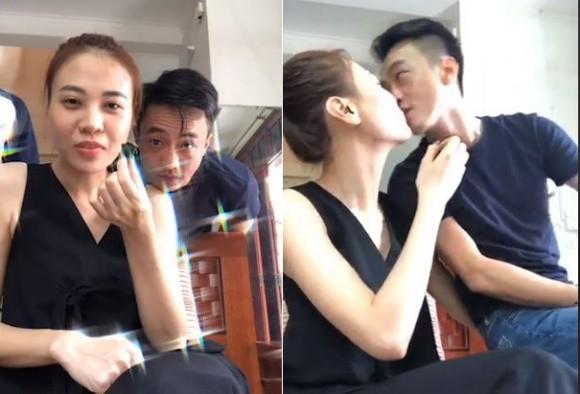 Cường Đô La và Đàm Thu Trang livestream công khai tình tứ, khóa môi ảnh 1