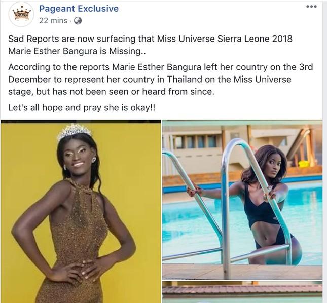Thực hư tin thí sinh Hoa hậu Hoàn vũ mất tích trên đường đến Thái Lan ảnh 2
