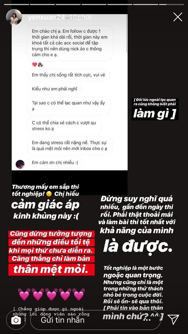 Bạn gái Lâm Tây, tuyển thủ Việt cổ vũ sĩ tử trước kỳ thi THPT quốc gia ảnh 1