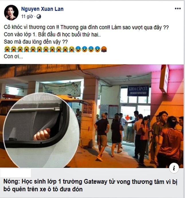 MC Thảo Vân, sao Việt phẫn nộ vụ học sinh Gateway tử vong vì bị quên trên ôtô ảnh 3