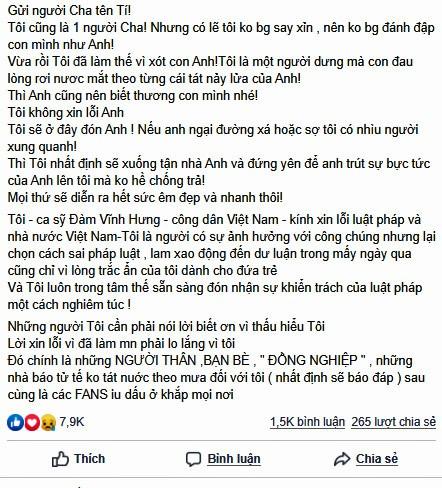Đàm Vĩnh Hưng lên tiếng về ồn ào kích động bạo lực ảnh 3