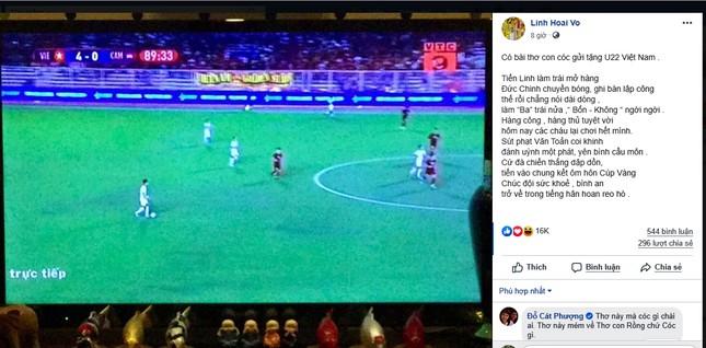 Hoài Linh lần đầu làm điều gây 'sốt' để mừng U22 Việt Nam thắng U22 Campuchia ảnh 2