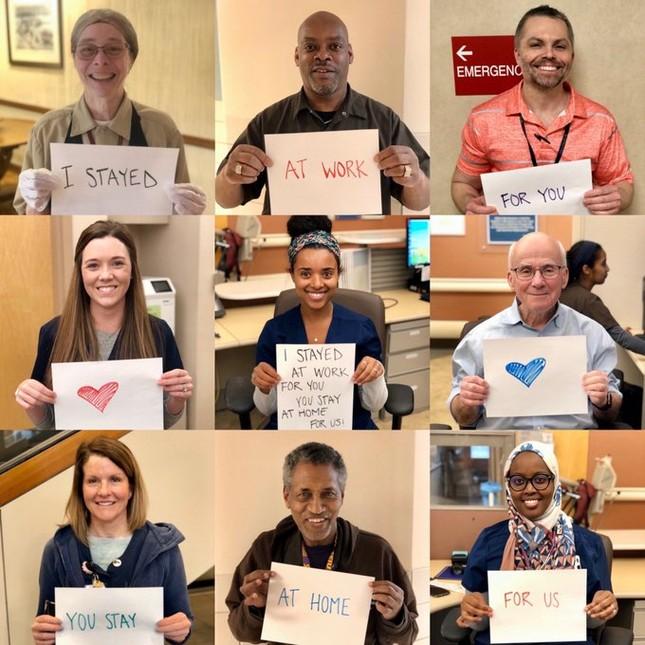 Thông điệp 'Chúng tôi đi làm vì bạn, bạn ở nhà vì chúng tôi' gây xúc động toàn cầu ảnh 9