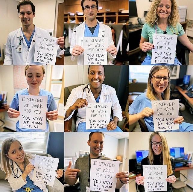 Thông điệp 'Chúng tôi đi làm vì bạn, bạn ở nhà vì chúng tôi' gây xúc động toàn cầu ảnh 10