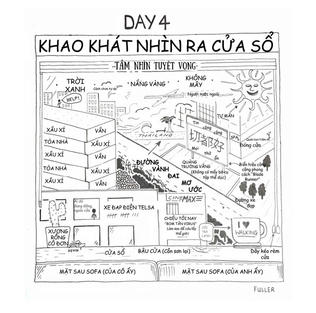 Sửng sốt với bộ tranh 14 ngày tự cách ly tại Bắc Kinh của họa sĩ người Anh ảnh 4