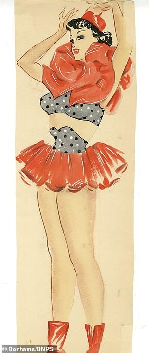 Đấu giá tranh phác họa trang phục táo bạo của vũ nữ Anh ảnh 1