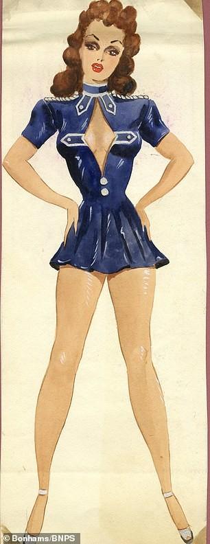 Đấu giá tranh phác họa trang phục táo bạo của vũ nữ Anh ảnh 2