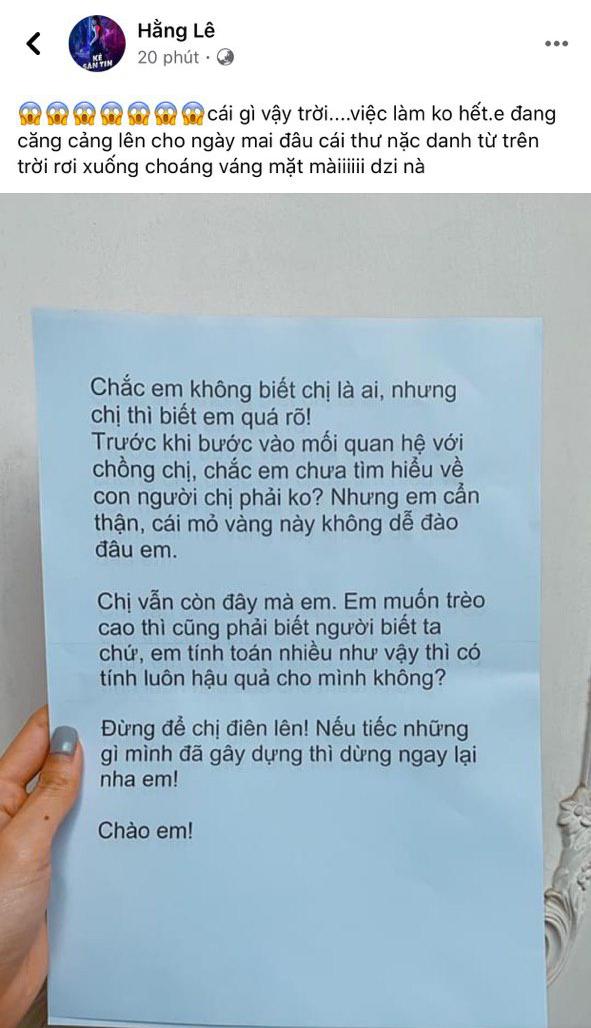 Minh Hằng tiết lộ gây sốc về chủ nhân bức thư nặc danh tố cô 'giật chồng', 'đào mỏ' ảnh 2