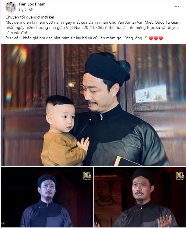 Tiến Lộc xúc động hóa thân Chu Văn An trên sân khấu kỉ niệm 650 năm ngày mất của ông ảnh 1