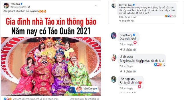 MC Thảo Vân và nghệ sĩ Việt háo hức đón chờ Táo quân 2021 ảnh 2