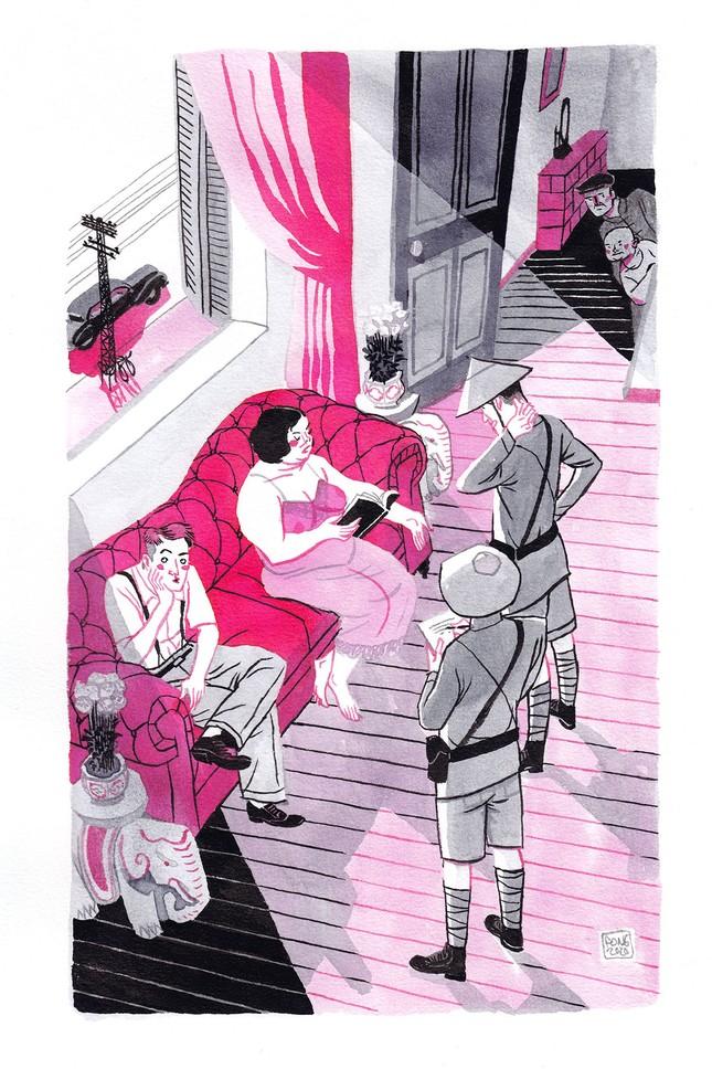 Xuân Tóc Đỏ phiên bản đẹp trai và cô Tuyết nghiện trang phục 'xuyên thấu' ảnh 1