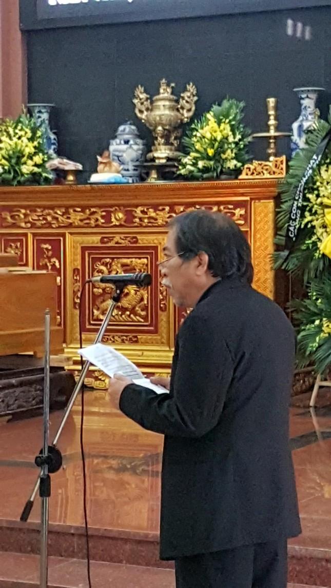 Lần đầu nghe Chủ tịch Nguyễn Quang Thiều đọc điếu văn ảnh 1