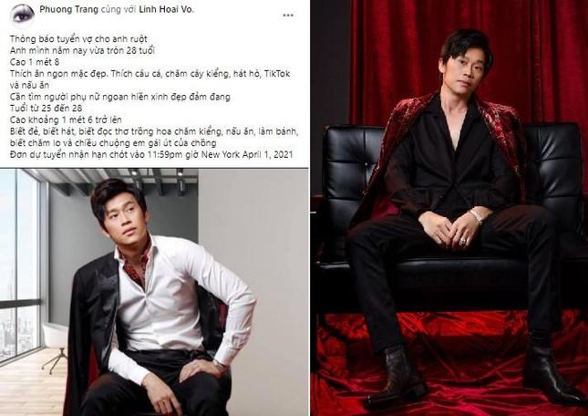 Em gái ruột đăng tin tuyển vợ cho Hoài Linh ngày 1/4, khán giả có phản ứng bất ngờ ảnh 1