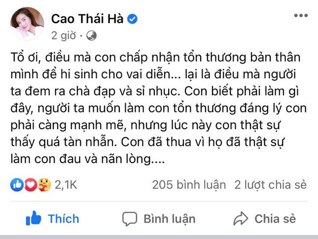 'Hoạn Thư' Cao Thái Hà chia sẻ đầy tâm trạng sau phim 'Kiều', sao Việt động viên hết lời ảnh 2