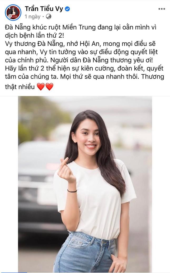 Hoa hậu Tiểu Vy, Lương Thùy Linh đồng lòng hướng về Đà Nẵng ảnh 1