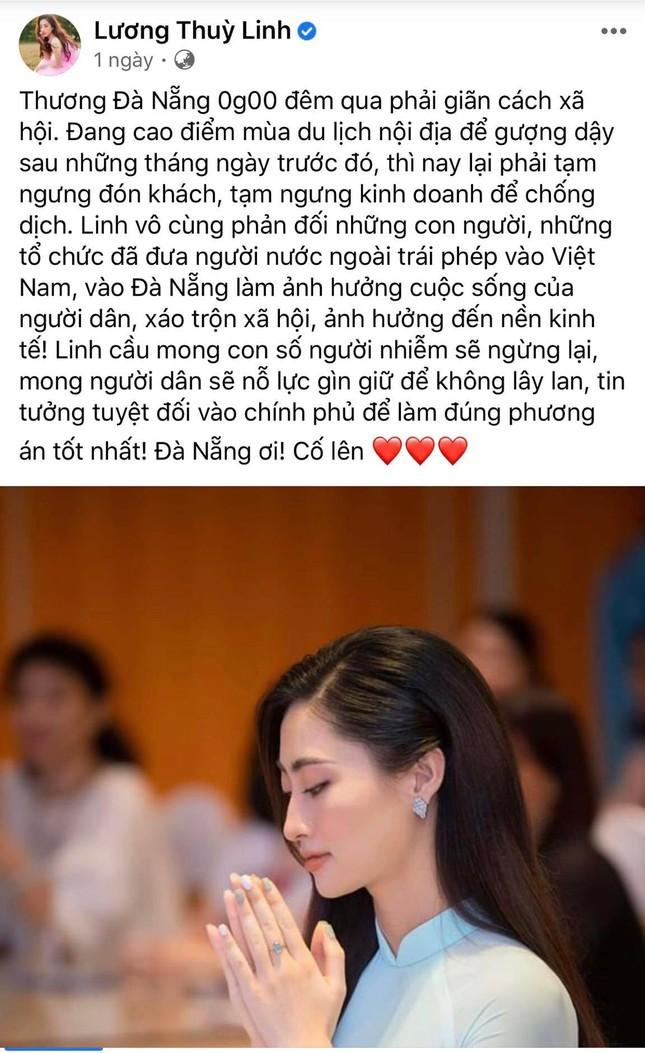 Hoa hậu Tiểu Vy, Lương Thùy Linh đồng lòng hướng về Đà Nẵng ảnh 2