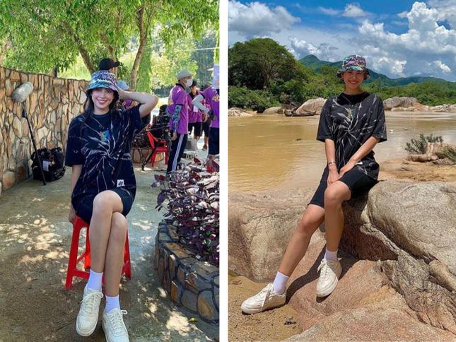 Chăm diện áo phông, Hoa hậu Tiểu Vy có cả '101' cách mix đồ cực khéo ảnh 3