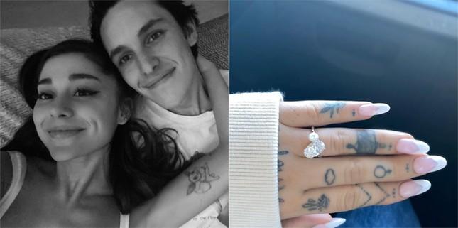 Ariana Grande đính hôn với bạn trai doanh nhân, khoe nhẫn kim cương lấp lánh ảnh 1
