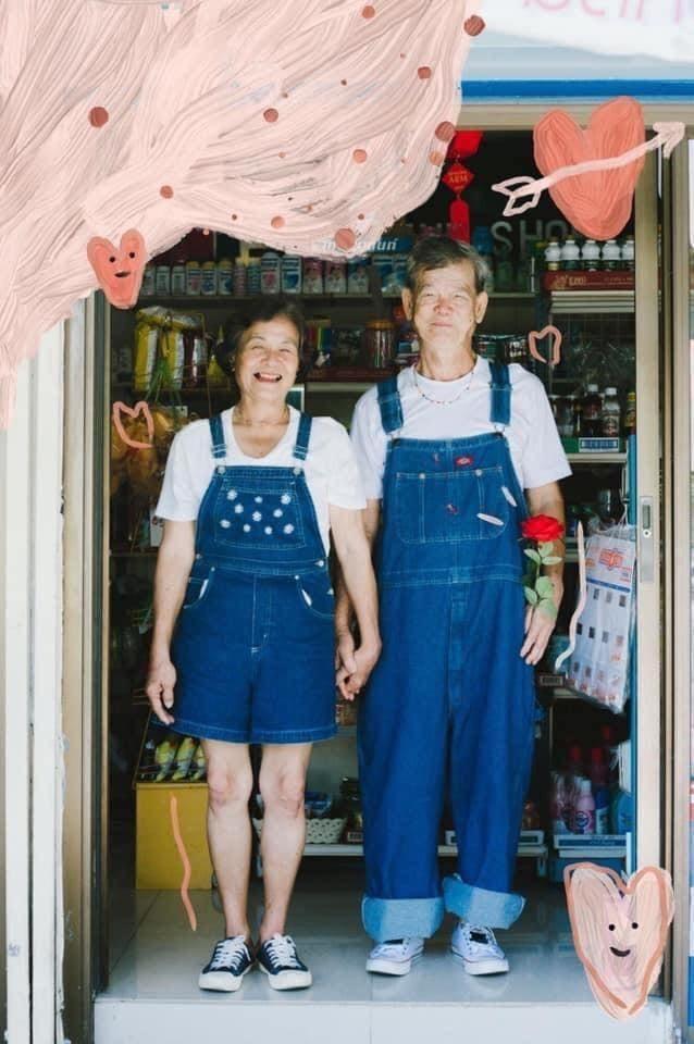 Cặp đôi U70 gây 'sốt' vì gu thời trang đôi cực ngầu như giới trẻ ảnh 5